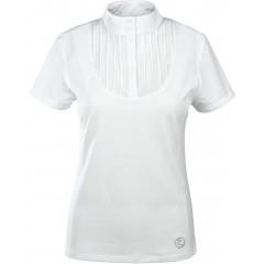 Damska koszulka Horze, plisowana z przodu
